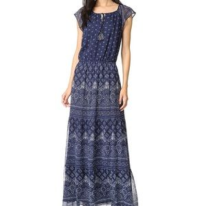 Joie Manalia Maxi Dress Navy Blue Print Shopbop